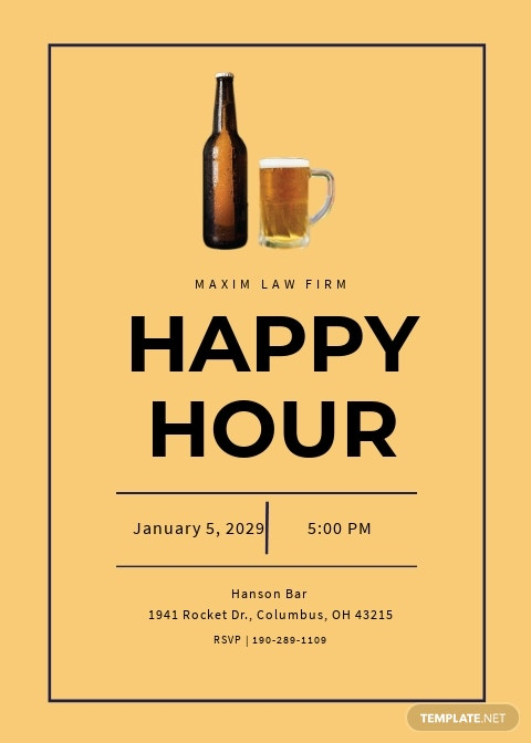Simple Happy Hour Invitation Template