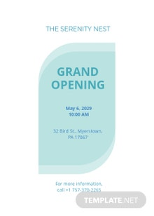 Spa Grand Opening Invitation Template