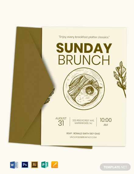 Sunday Brunch Invitation Template