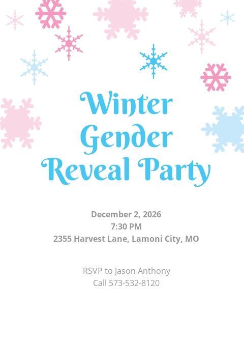 Winter Gender Reveal Invitation Template.jpe