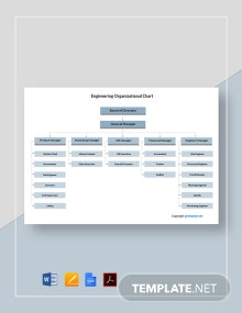 Free Basic Engineering Organizational Chart Template