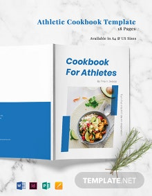 Athletic Cookbook Template