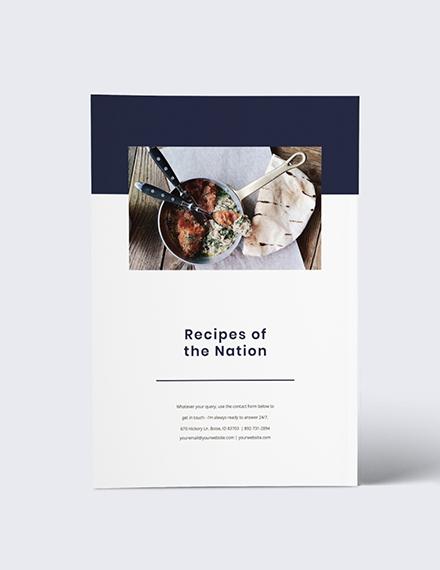 Custamise Digital Recipe Book Notes Template