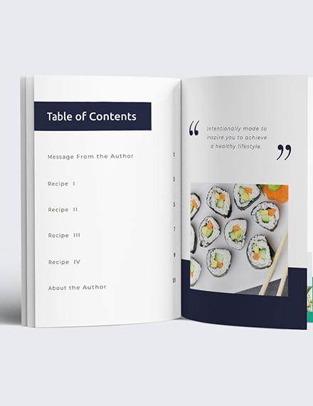 Download Digital Recipe Book Notes Template
