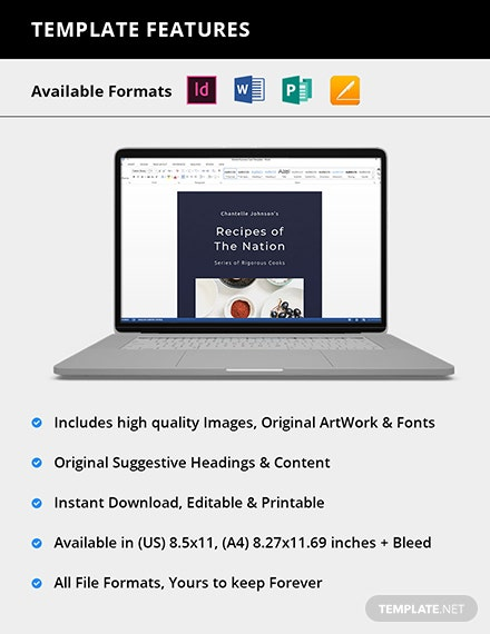 Editable Digital Recipe Book Notes Template