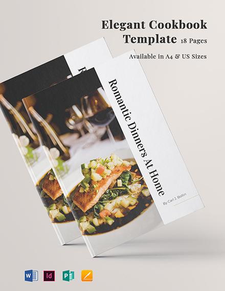 Elegant Cookbook Template