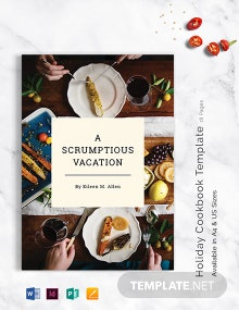 Holiday Cookbook Template