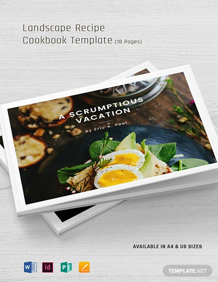 landscape recipe cookbook template