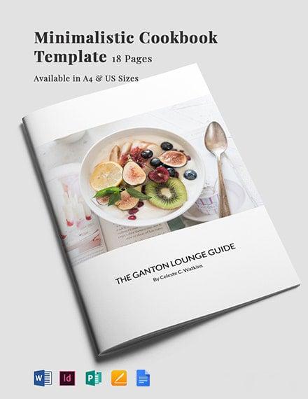 Minimalistic Cookbook Template