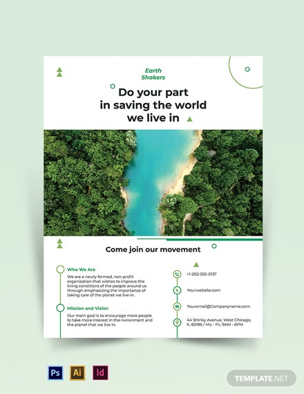 Free Simple Environmental Conservation Flyer Template
