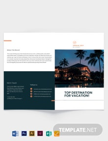 Luxury Resort Bi-fold Brochure Template