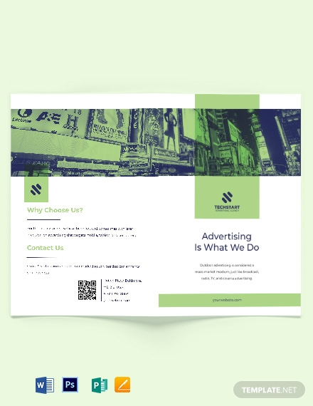 Outdoor Advertising Bi-Fold Brochure Template
