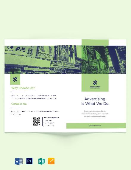Outdoor Advertising Bi-Fold Brochure Template