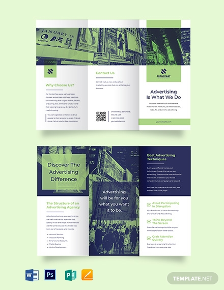 Outdoor Advertising Tri-Fold Brochure Template
