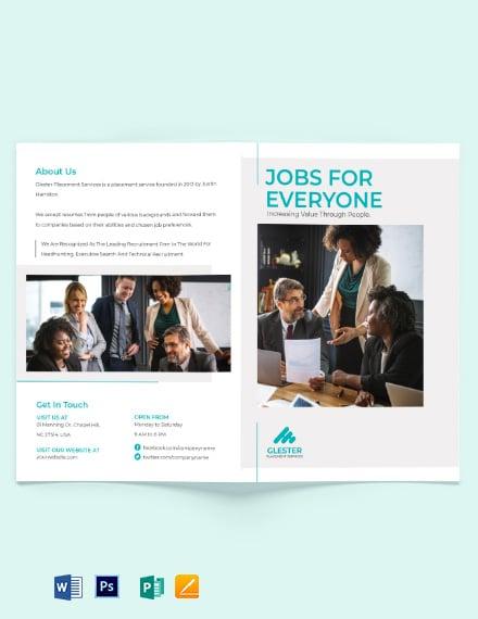 Placement Bi-Fold Brochure Template