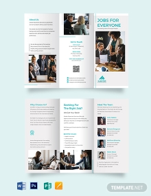 Placement Tri-fold Brochure Template