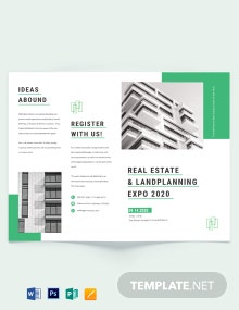 Real Estate Corporate Event Bi-Fold Brochure Template