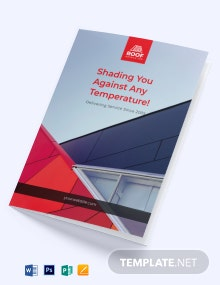 Roofing Construction Bi-Fold Brochure Template