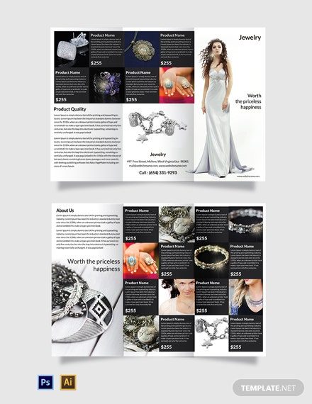 Free Jewelry Tri-Fold Brochure Template