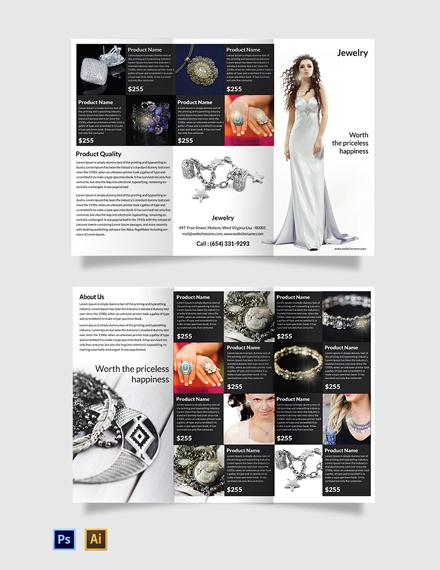 Free Jewelry Tri-Fold Brochure Template