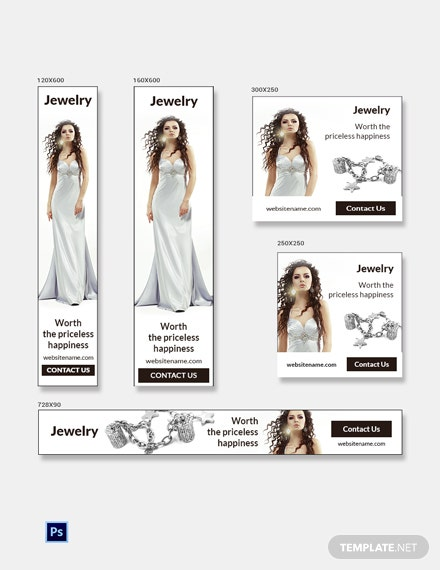 Free Jewelry Banner Ads Template