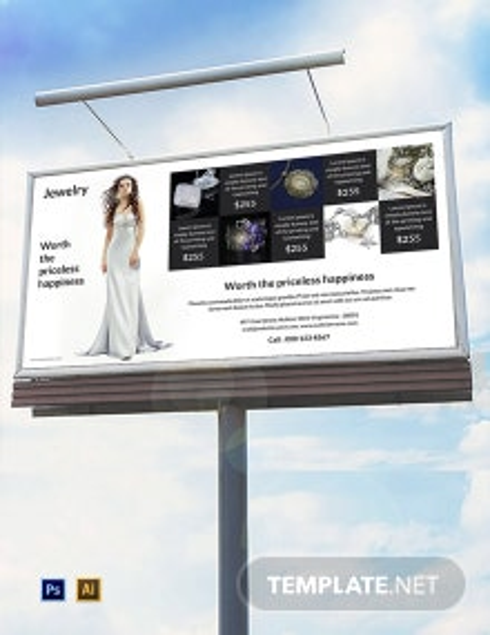 Free Jewelry Billboard Template