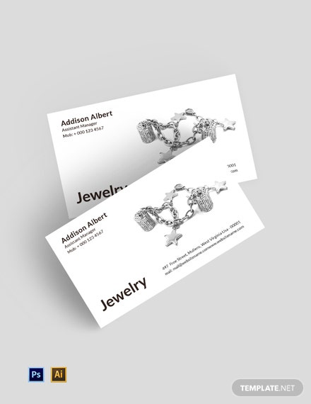 Free Jewelry Business Card Template
