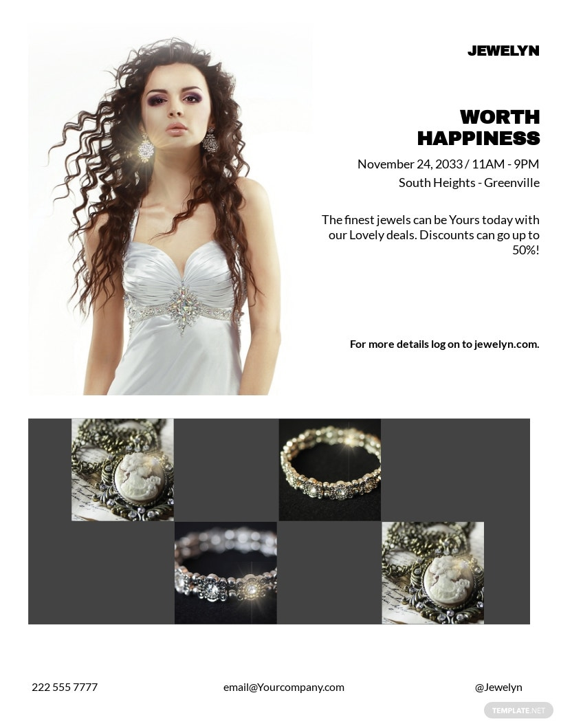 Free Jewelry Flyer Template.jpe