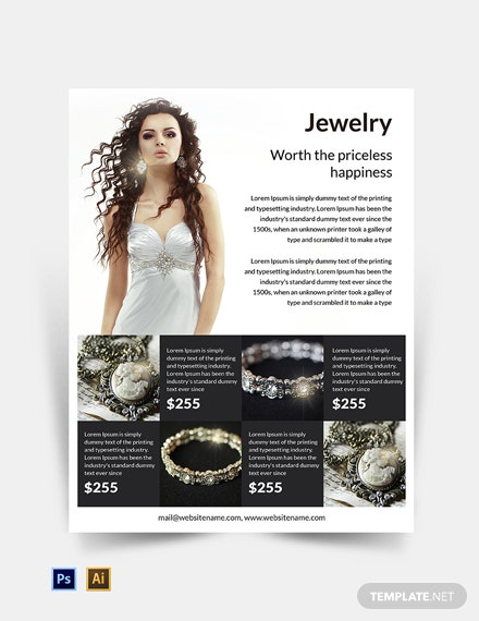 Free Jewelry Flyer Template