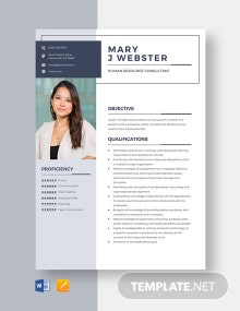 Human Resource Consultant Resume Template