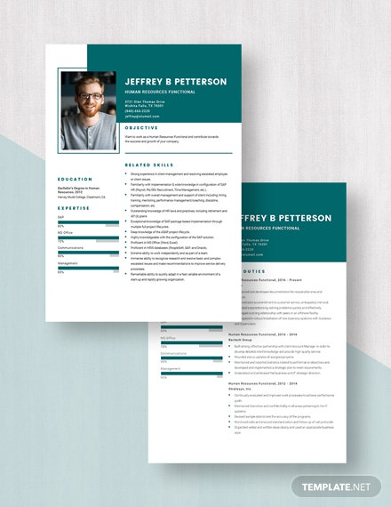Human Resources Functional Resume Download