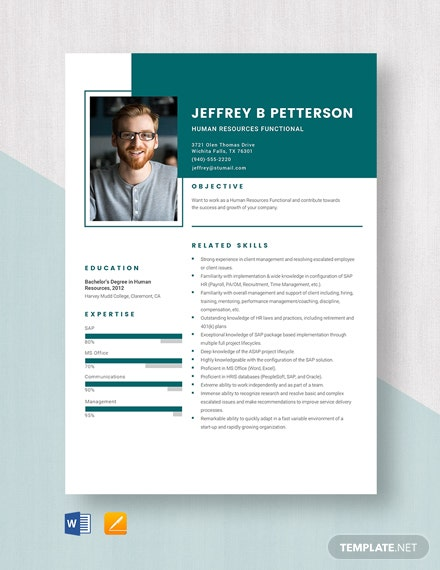 Human Resources Functional Resume