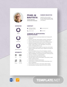 Human Services Operations Manager Resume Template