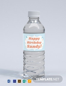 Free Birthday Bottle Label Template