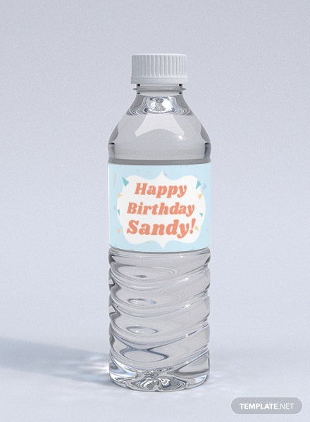 Birthday Bottle Label Template