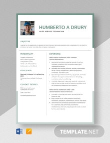 HVAC Service Technician Resume Template
