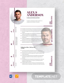 Publications Editor Resume Template
