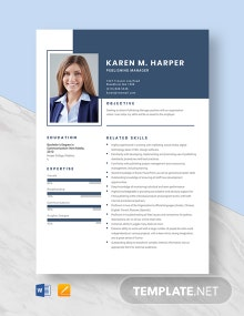 Publishing Manager Resume Template