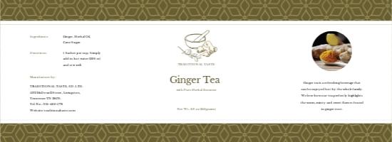 Ginger Tea Bottle Label Template.jpe