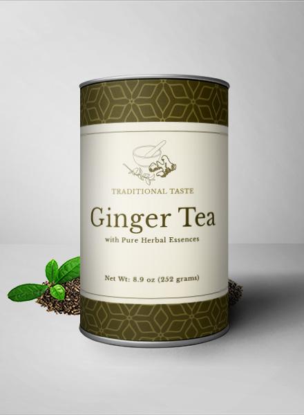 Ginger Tea Bottle Label Template