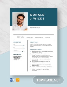 Purchase Agent Resume Template