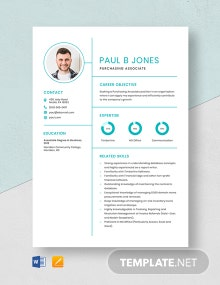 Purchasing Associate Resume Template