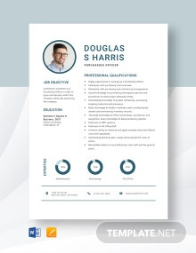 Purchasing Officer Resume Template
