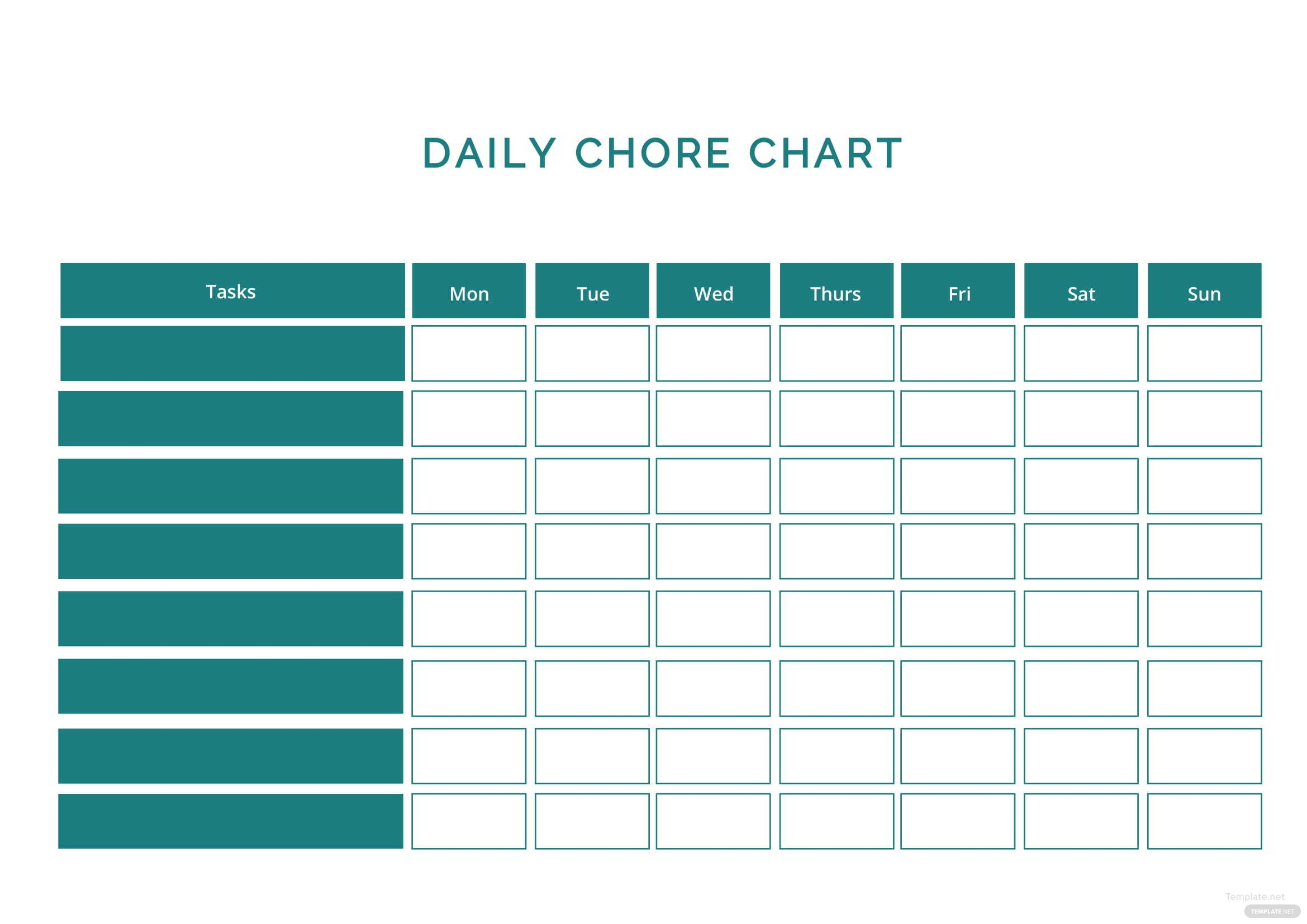 Daily Chore Chart Template in Microsoft Word   Template.net