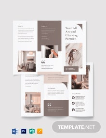 Sample Cleaning Tri-Fold Brochure Template