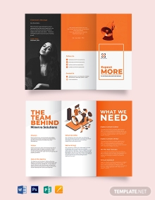 Simple Company Profile Tri-fold Brochure Template