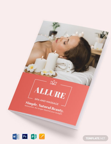 Spa Massage Bi-Fold Brochure Template