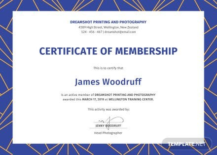 Nice Certificate Of Membership Template Images Gallery Alte