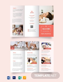 Spa Massage Tri-fold Brochure Template
