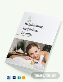 Spa Service Bi-fold Brochure Template
